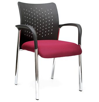 An image of a purple office chair.