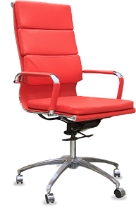 An image of a red office chair.